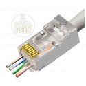 Prise réseau MicroConnect Modular Easy-Connect FTP CAT6a RJ45