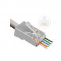 Prise réseau MicroConnect Modular Easy-Connect FTP CAT6a RJ45 50 Pieces
